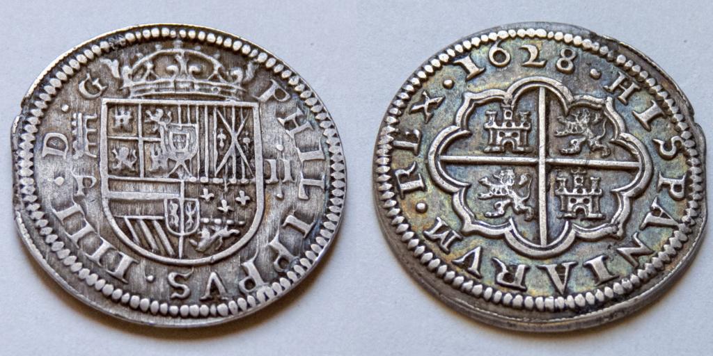 2 reales 1628 Segovia, Felipe IV P1040210