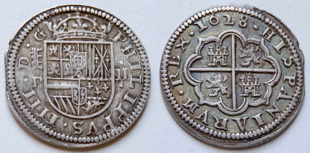 2 reales 1628 Segovia, Felipe IV P1040211