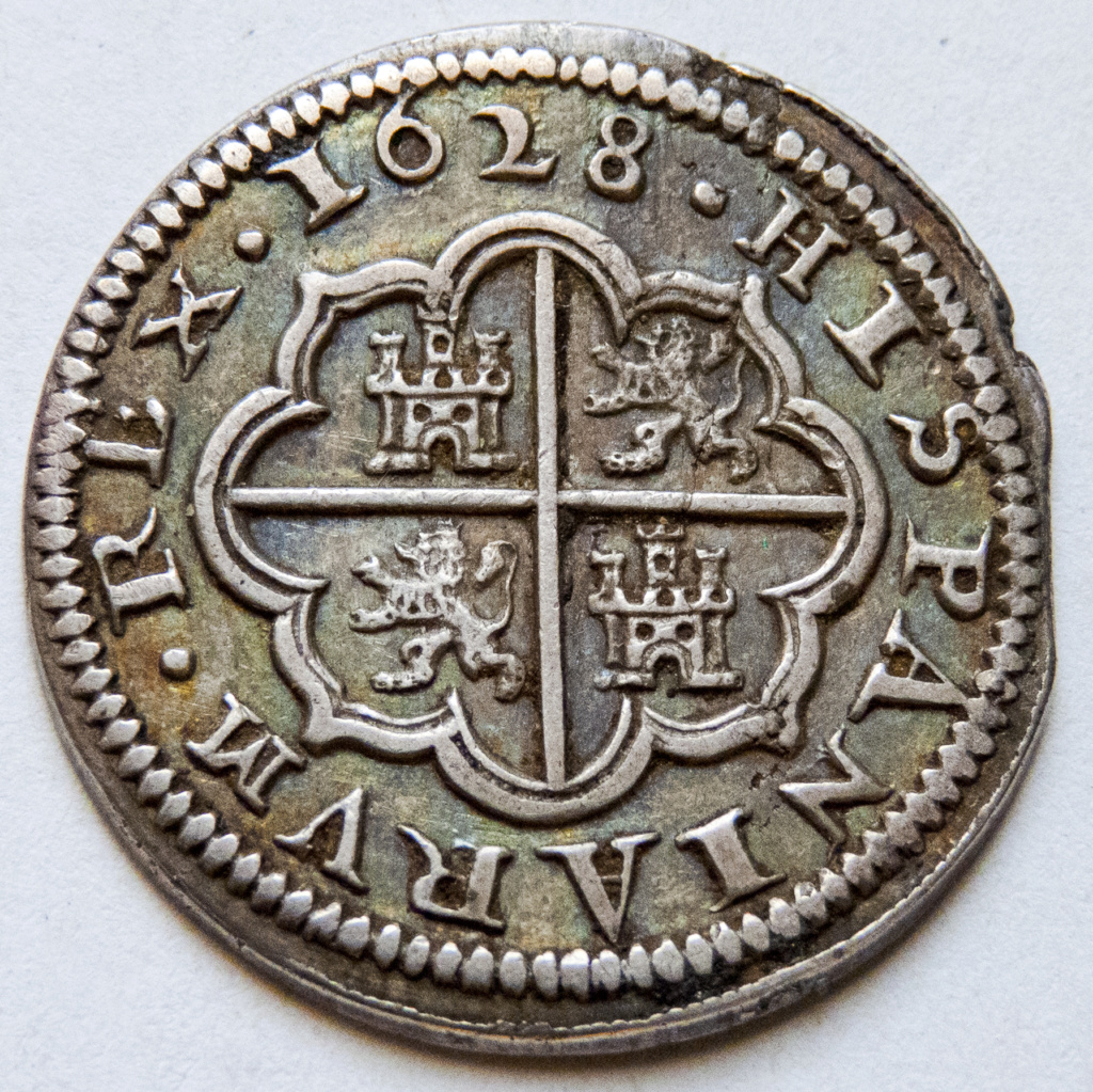 2 reales 1628 Segovia, Felipe IV P1040213