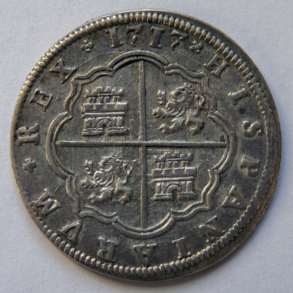 2 reales 1717 Segovia, Felipe V. Colección Manuela Etcheverría P1040512