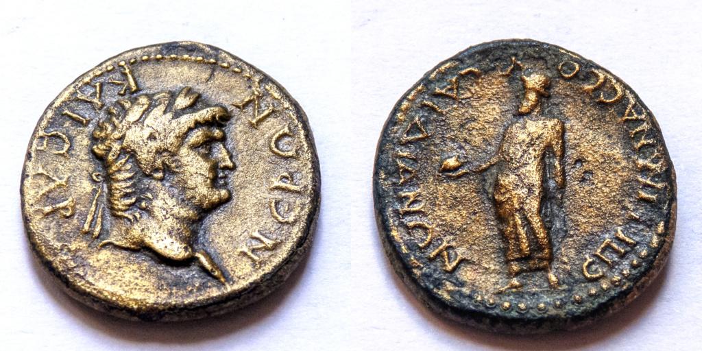 AE19 provincial de Nerón. Sardes (Lidia) P1050017