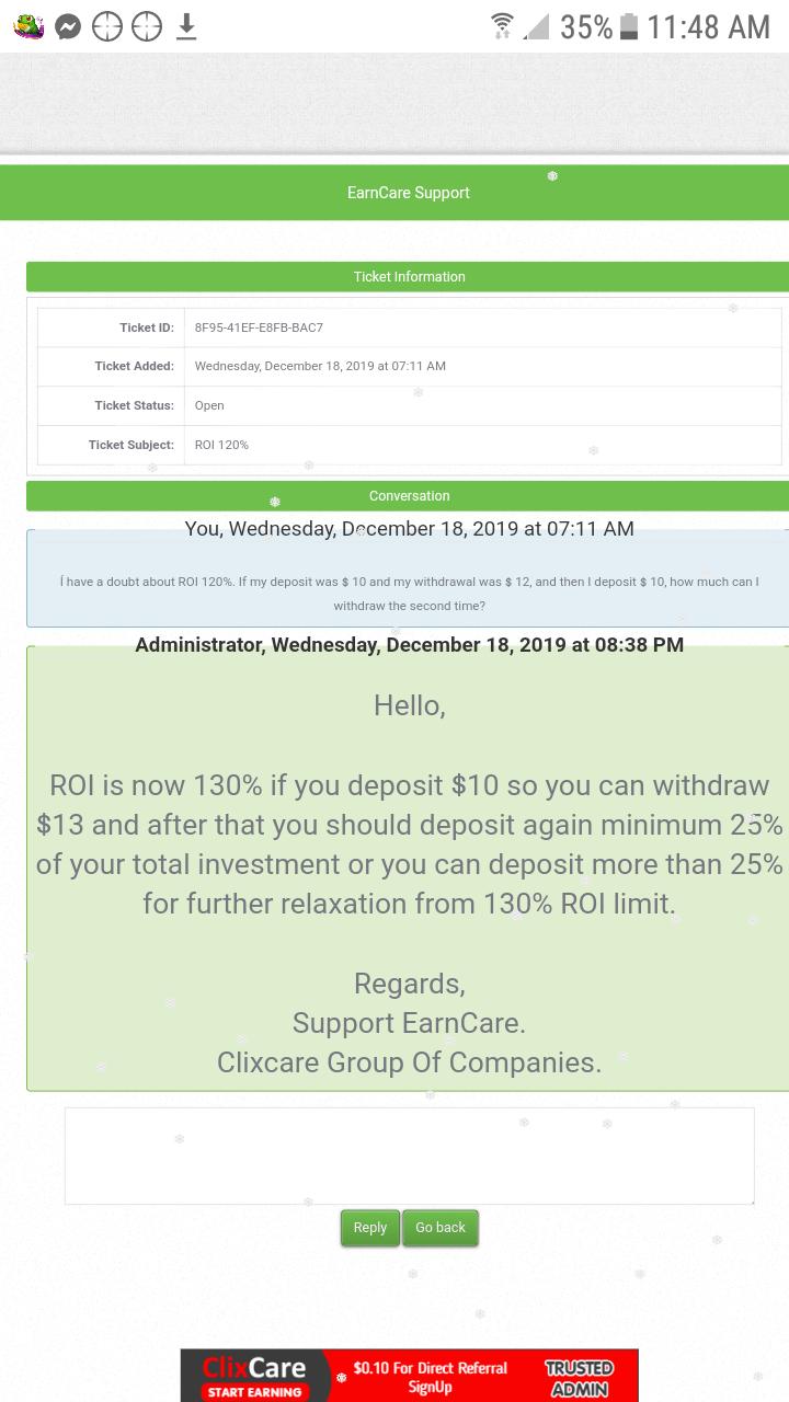 [PAGANDO] EARNCARE ( GRUPO CLIXCARE)- STANDARD- REFBACK 80% - MINIMO 2 $ , Recibido Pago 2 - Página 3 Screen16