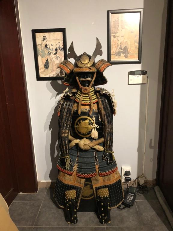 je viens de rentrer ce super yoroi du clan tiara , il vient d un ancien dojo sit Img_3015