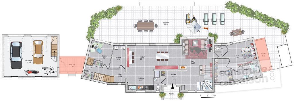 la demeure d'une hyène Plan-m11