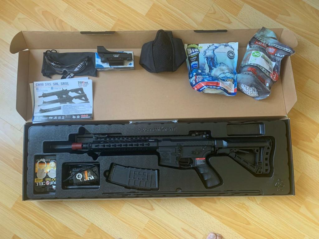 Vente Fusil G&G M4 CM16 SRL + accessoires & protections Whatsa10