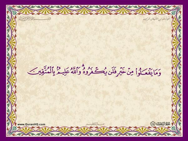 الآية 115 من سورة آل عمران الكريمة المباركة Aeoo_113
