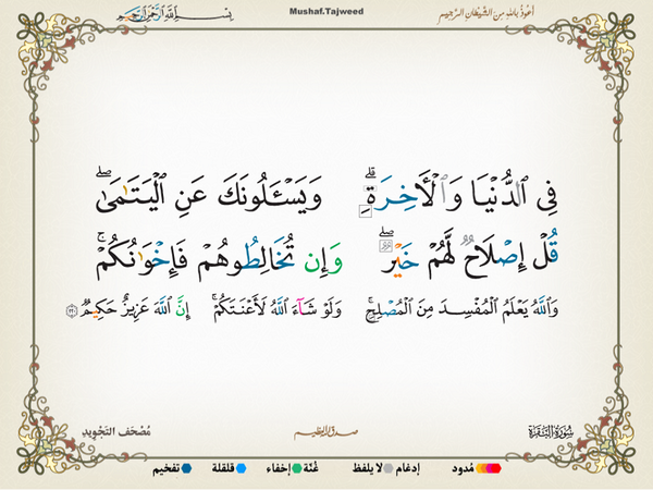 الآية 220 من سورة البقرة الكريمة المباركة Aeoo_220