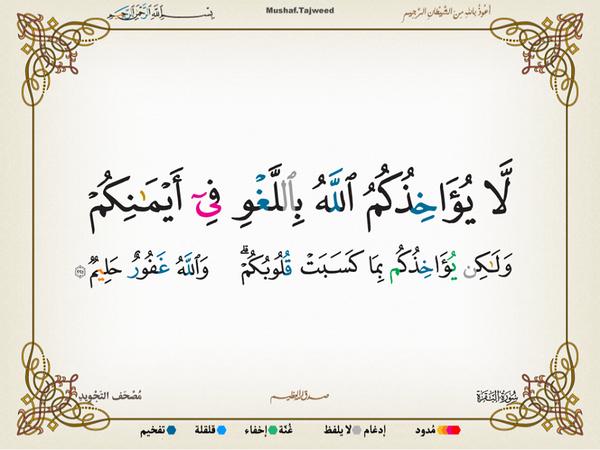 الآية 225 من سورة البقرة الكريمة المباركة Aeoo_226