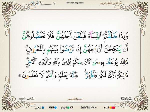 الآية 232 من سورة البقرة الكريمة المباركة Aeoo_233
