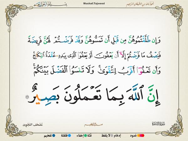 الآية 237 من سورة البقرة الكريمة المباركة Aeoo_238