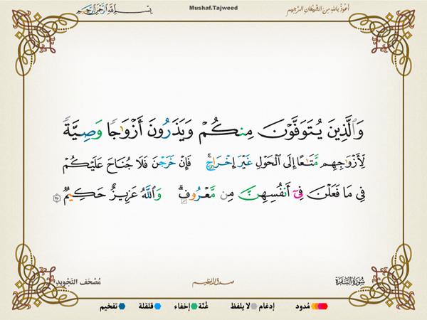 الآية 240 من سورة البقرة الكريمة المباركة Aeoo_241