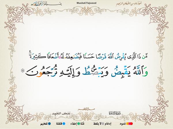 الآية 245 من سورة البقرة الكريمة المباركة Aeoo_246