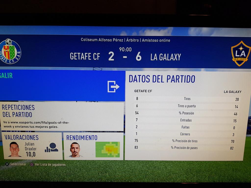 Amistoso Getafe 2-6 LA Galaxy, 08/01/2019 20190110