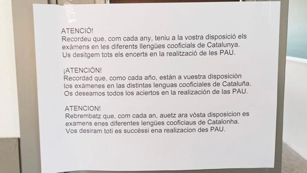 El TSJC sentencia que la Generalitat no puede imponer el catalán en los exámenes de selectividad Whatsa12