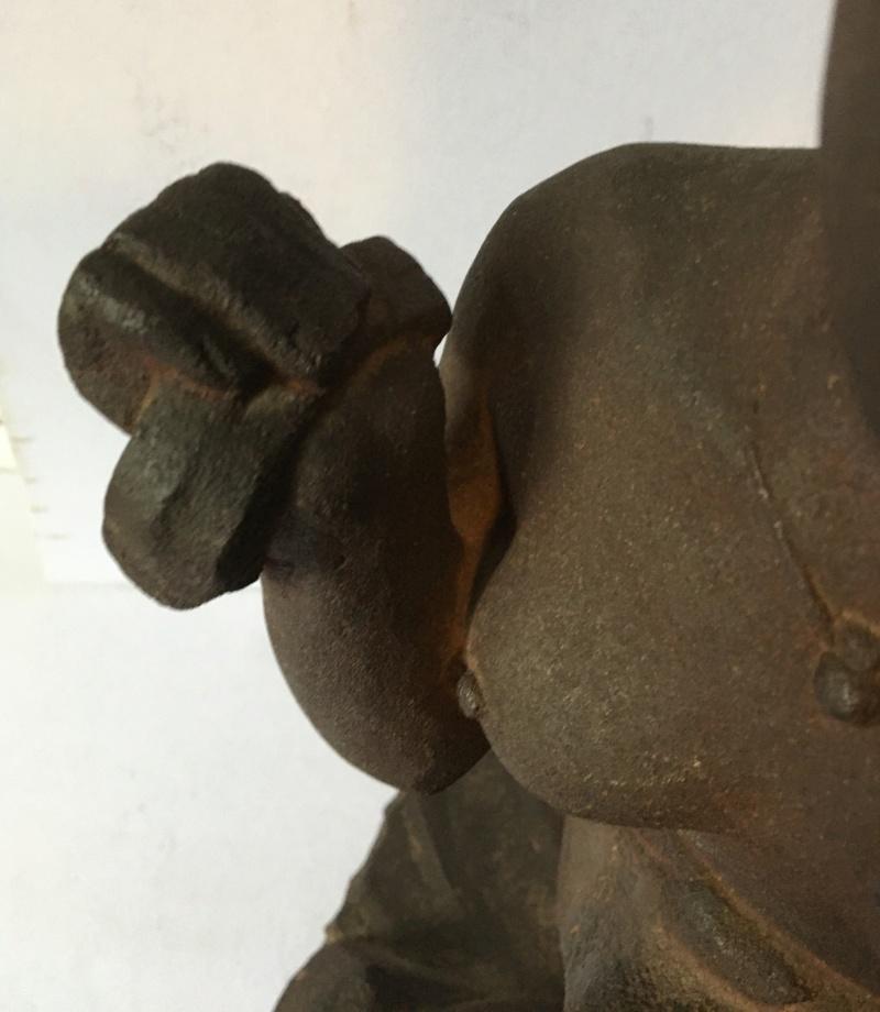 Nubienne porteuse d'eau - grès signé Apollon 1939? Img_1716