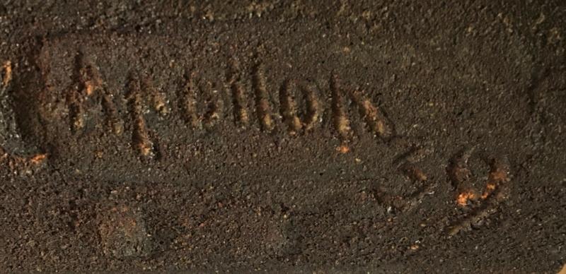 Nubienne porteuse d'eau - grès signé Apollon 1939? Img_1723