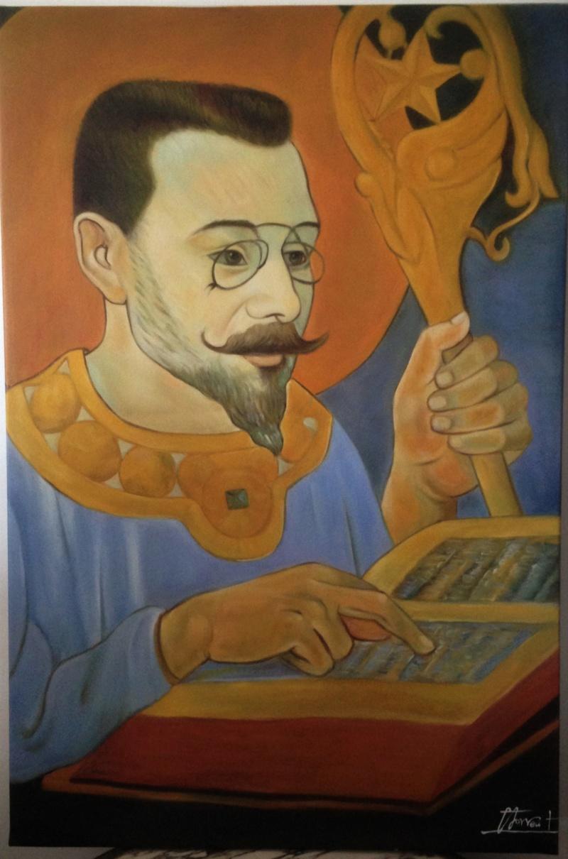 Portrait d'un nabi copie de Sérusier. Img_7710