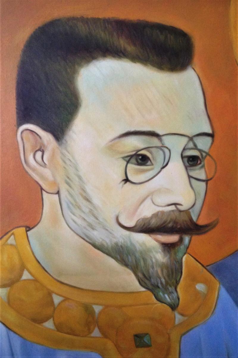Portrait d'un nabi copie de Sérusier. Img_7715