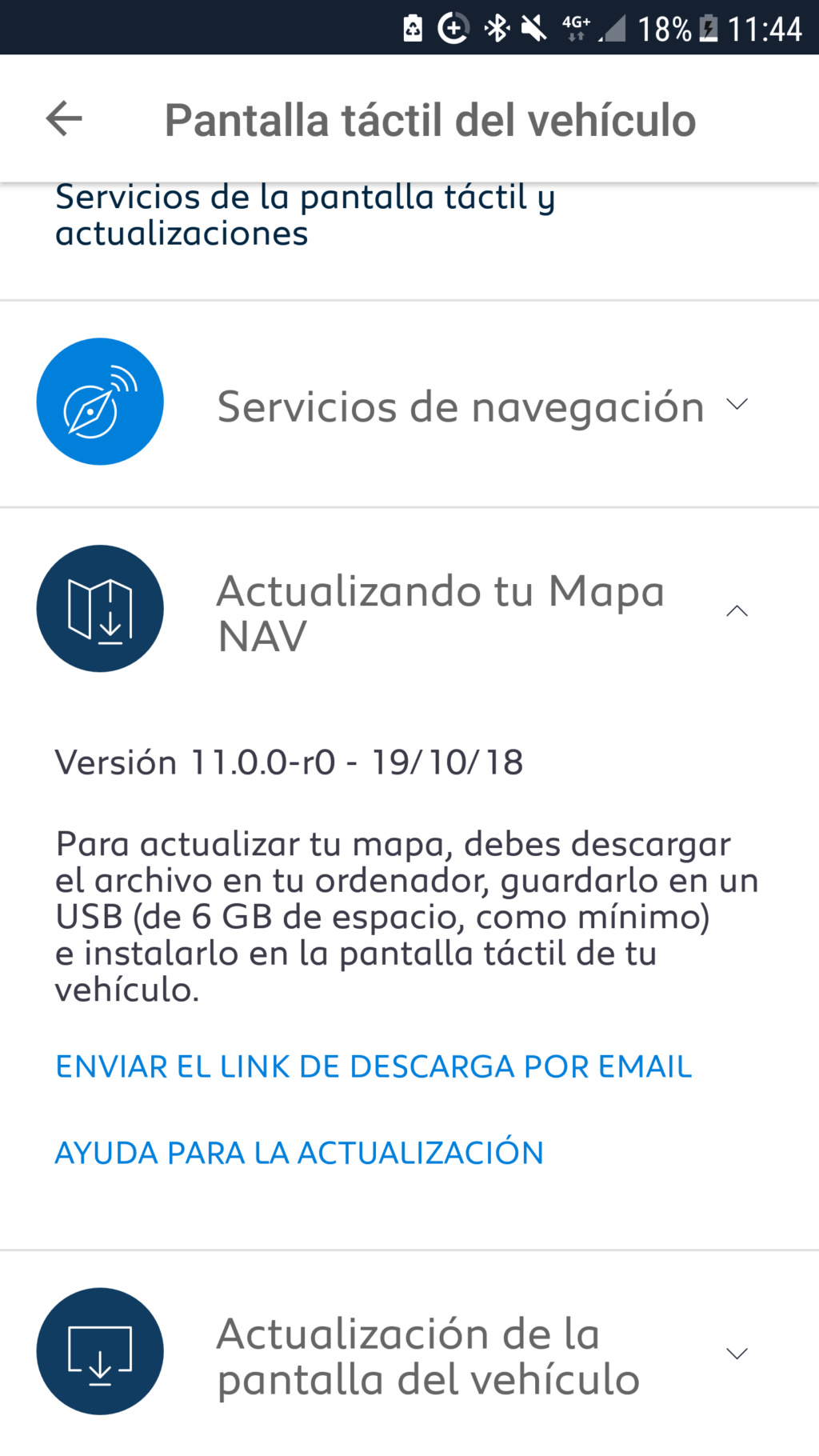 NUEVA CARTOGRAFÍA Y FIRMWARE Screen10