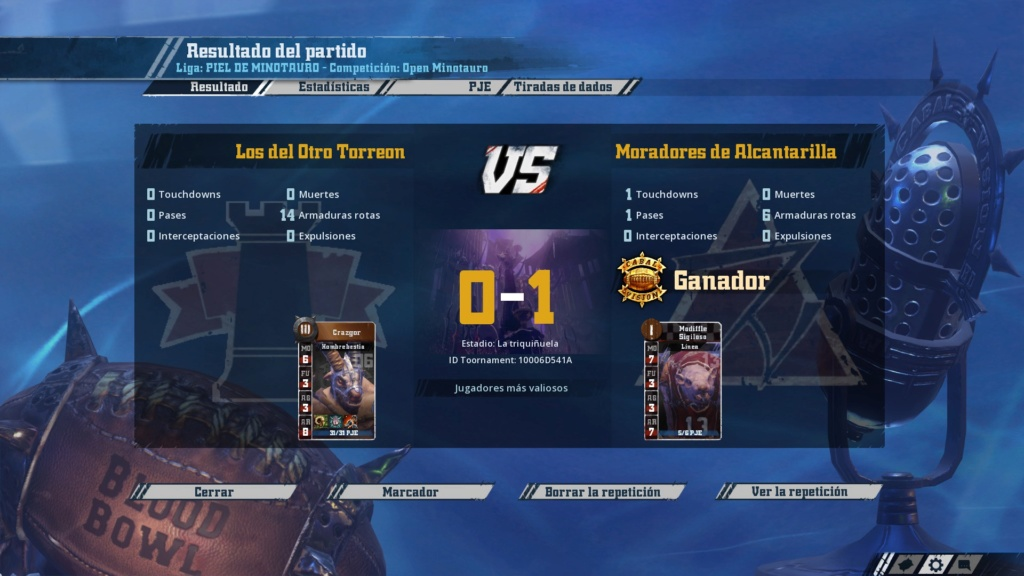 Open Minotauro Otoño 2019 - Retos e Informes de partidos  20191213