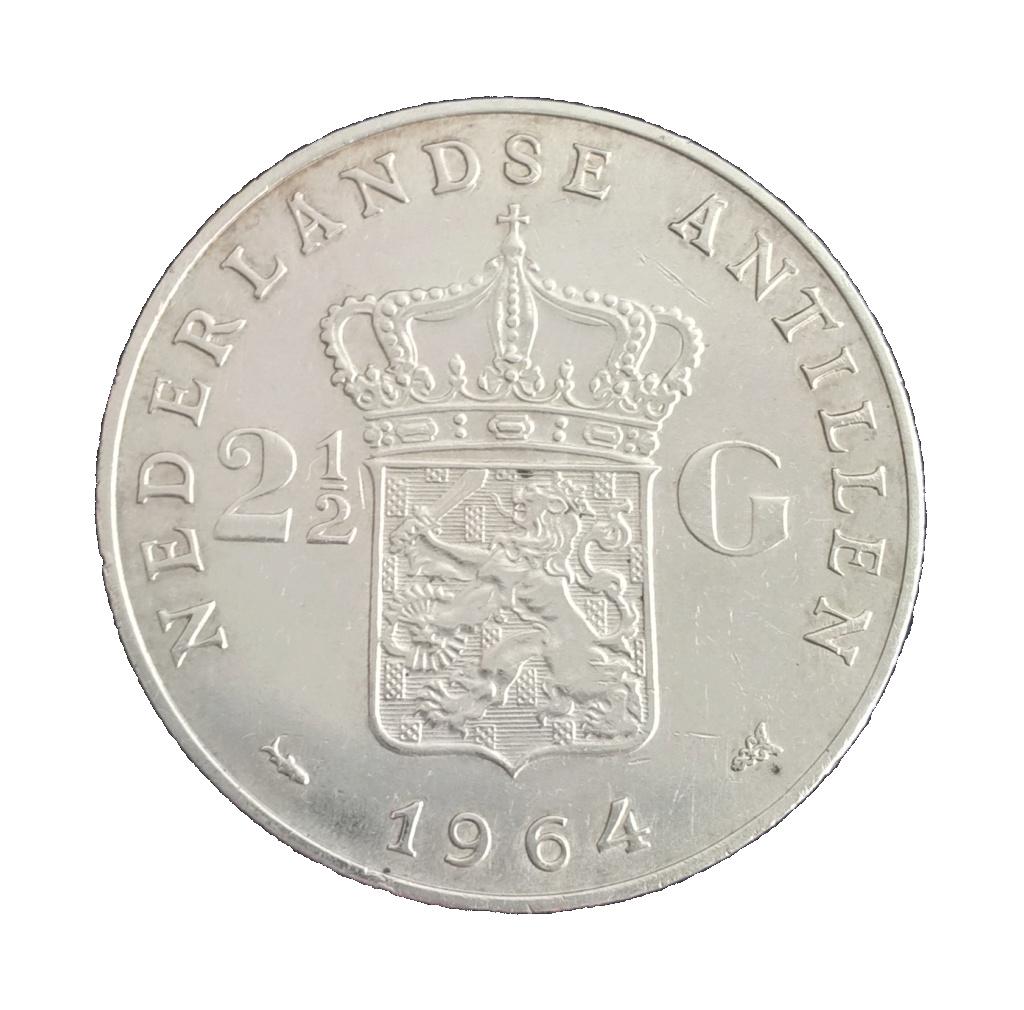 Antillas holandesas 2 1/2 florines 1964 2_y_me11