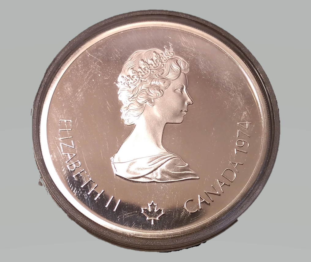 Canada 10 dollars 1974 Templo de Zeus - Montreal 1976 Royal Canadian Mint Olympic Coins Series Bb10