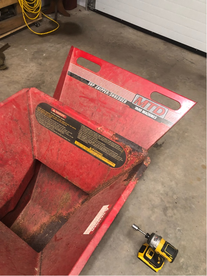 MTD 5hp chipper shredder Fr_44311