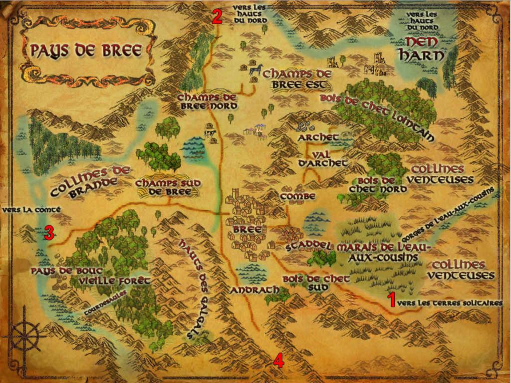 Cartographie du pays de Bree Paysbr11