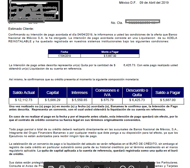 Acuerdo con Banamex - Carta convenio Conven10