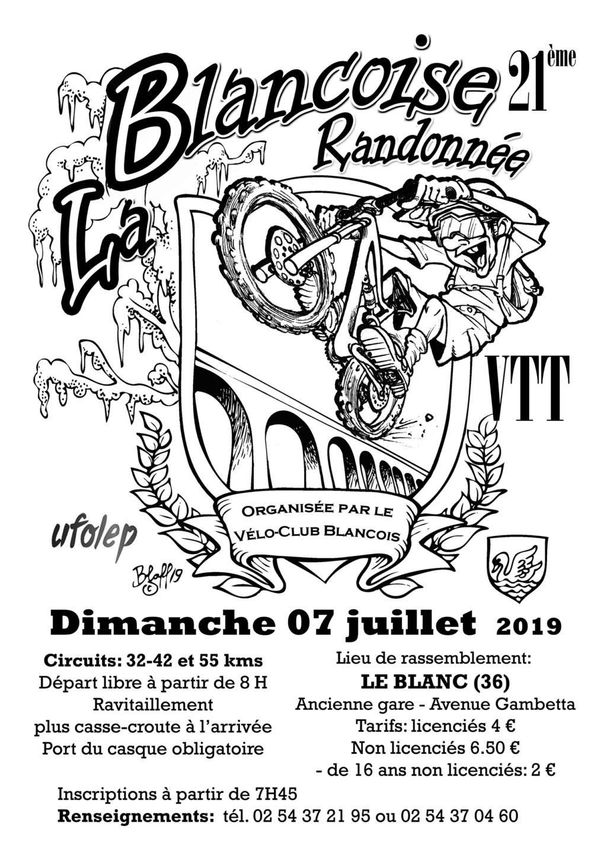 LE BLANC (36) - La Blancoise - dimanche 7 juillet 2019 Affich10