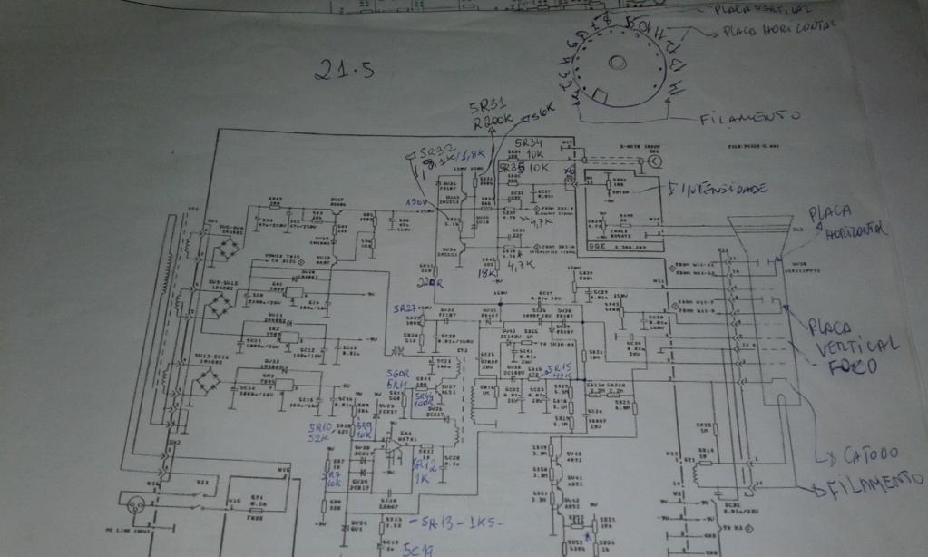 Aparelho: Osciloscopio  marca: minipa - Mo 1225 sem traço na tela  15655710