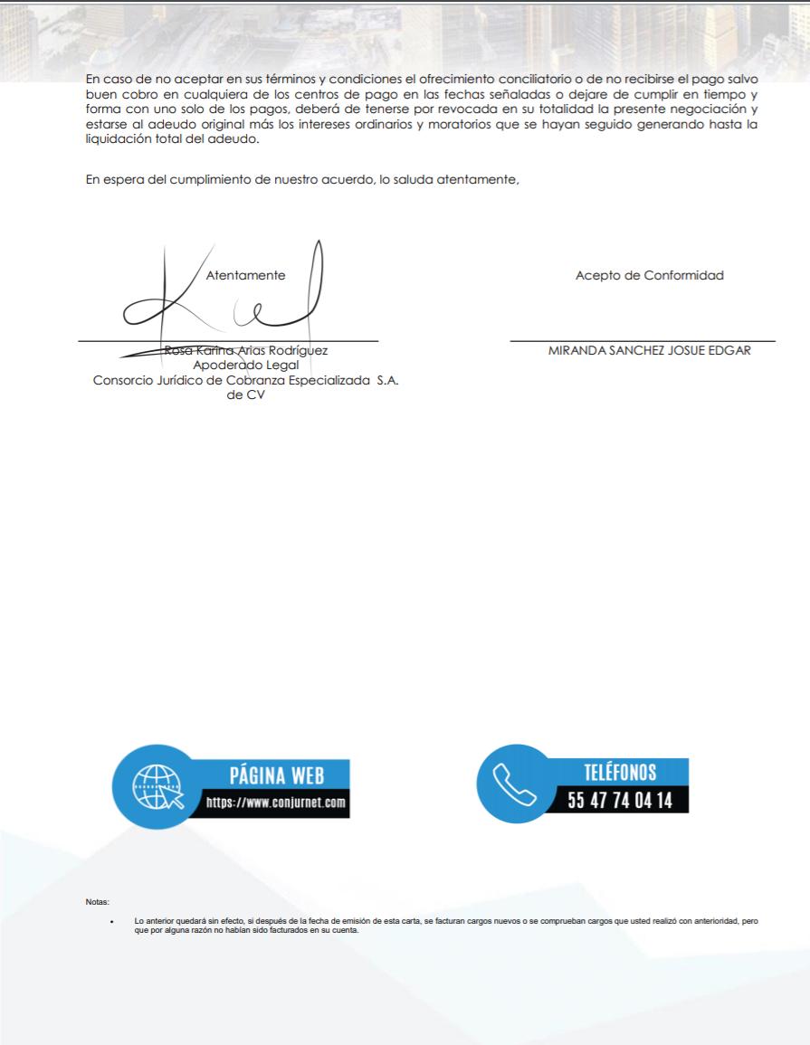 AMEX oferta de negociación Carta211