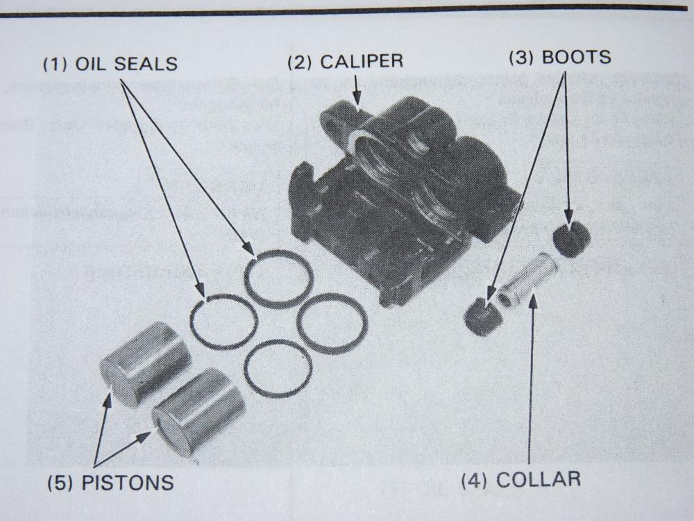 Reparatursatz für die vordere Bremspumpe (CX500 Euro Sport) Kolben11