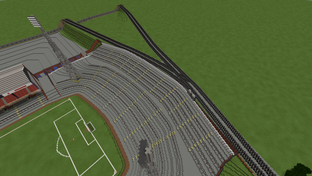 Recreating Burnden Park in Minecraft in time for the 75th anniversary of the disaster Minecr29