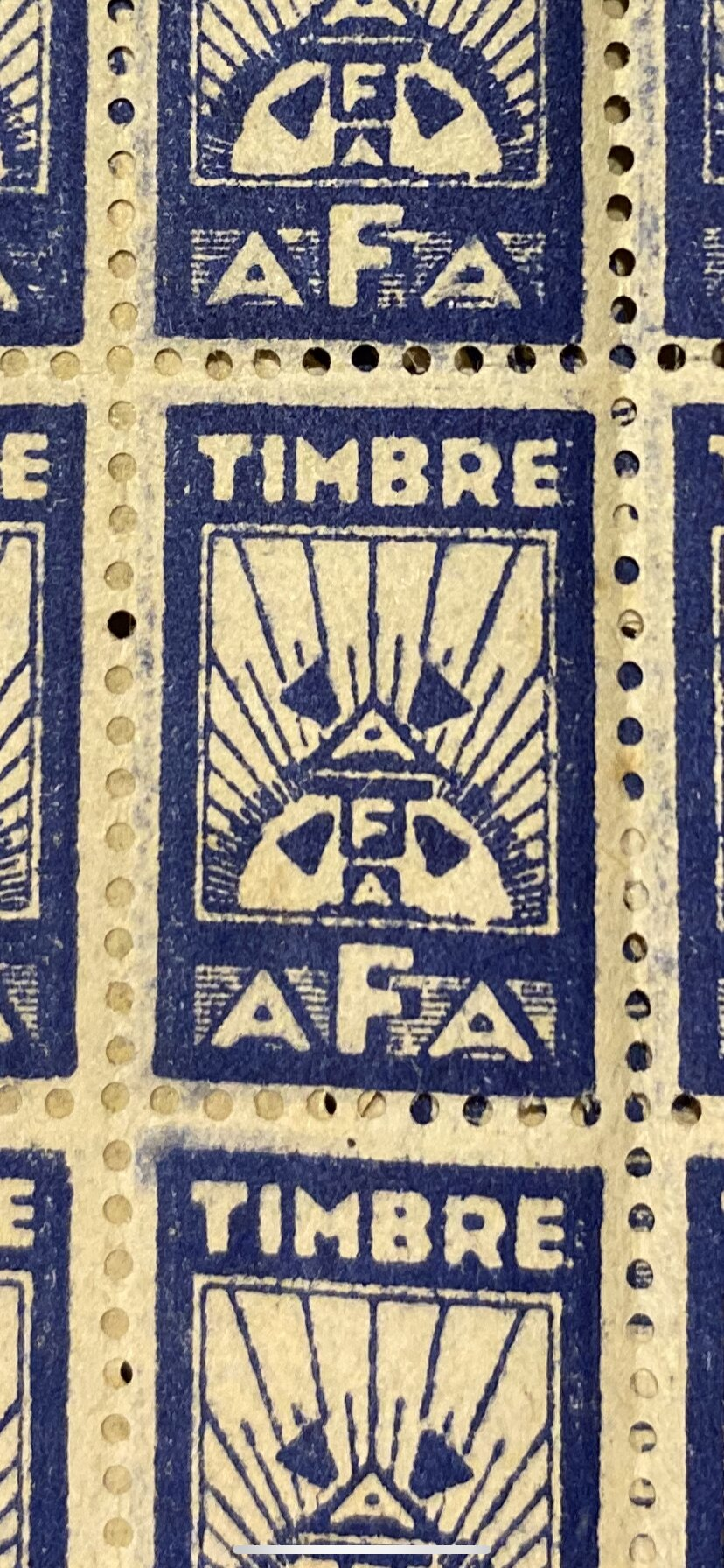 Identification timbre AFA 25bb7310
