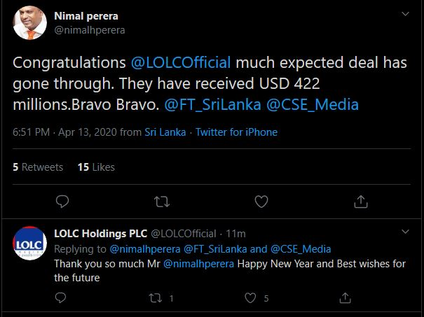 LOLC deal closed! Lolc10