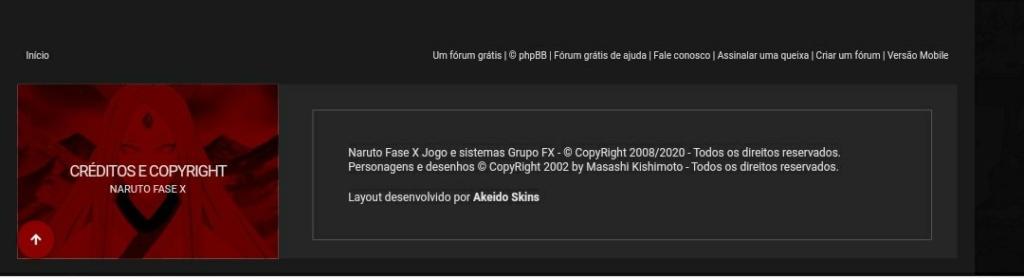 Copyright no final da pagina Screen17
