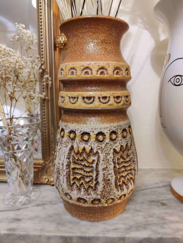 Rustic earthenware vase, 1400/50 by U Keramik West Germany  Img_2010