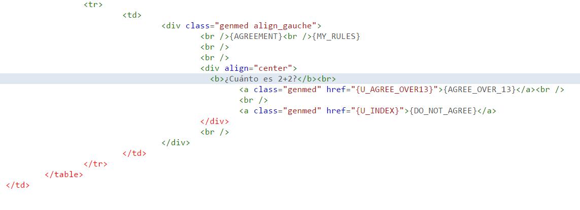 Cómo impedir los usuarios-bots en nuestro foro 1ef15610
