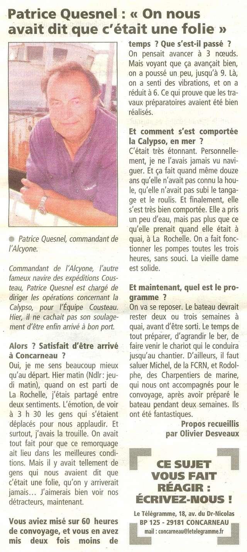 [AUTRES SUJETS DIVERS] LA CALYPSO - Page 2 0710