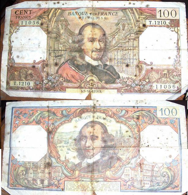 100 Francos (Francia, 1978) 10010