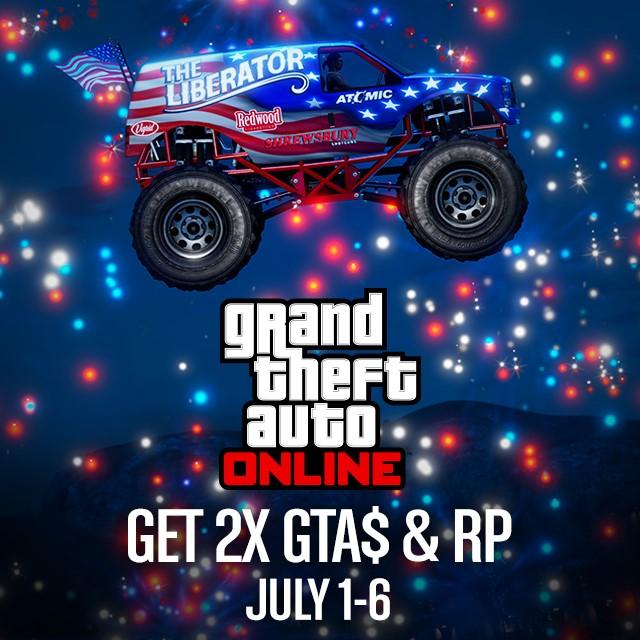 GTA Online : Les GTA $ et les RP doublés du 1er au 6 juillet Double10