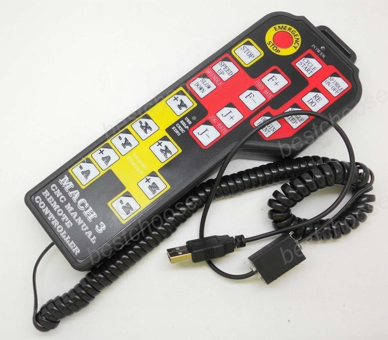 4 Axes handle remote keypad Contrôle pour CNC Fraiseuses Mach3 seulement Comman10