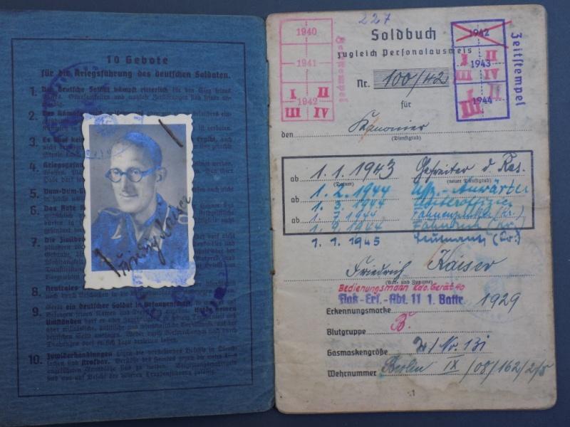 Vos livrets militaires allemands WWII (Soldbuch, Wehrpass..) / Heer-LW-KM-SS... - Page 2 Dscn3253