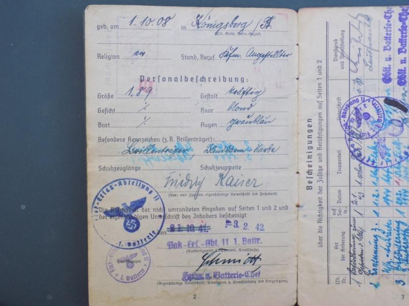 Vos livrets militaires allemands WWII (Soldbuch, Wehrpass..) / Heer-LW-KM-SS... - Page 2 Dscn3254