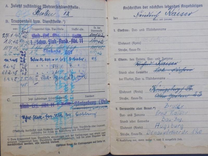 Vos livrets militaires allemands WWII (Soldbuch, Wehrpass..) / Heer-LW-KM-SS... - Page 2 Dscn3256