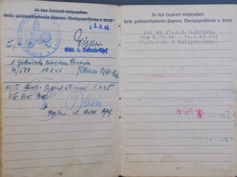 Vos livrets militaires allemands WWII (Soldbuch, Wehrpass..) / Heer-LW-KM-SS... - Page 2 Dscn3258