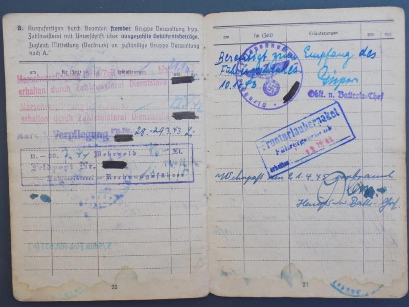 Vos livrets militaires allemands WWII (Soldbuch, Wehrpass..) / Heer-LW-KM-SS... - Page 2 Dscn3264