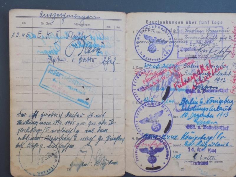 Vos livrets militaires allemands WWII (Soldbuch, Wehrpass..) / Heer-LW-KM-SS... - Page 2 Dscn3310