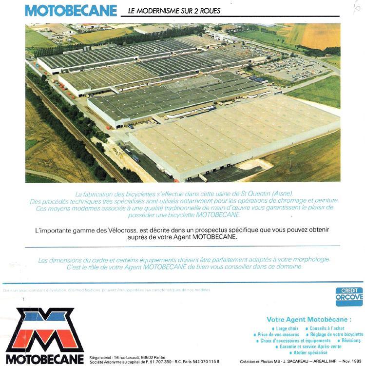 catalogue MOTOBECANE  novembre  1983 Tob83-19